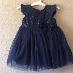 12m fancy navy blue dress
